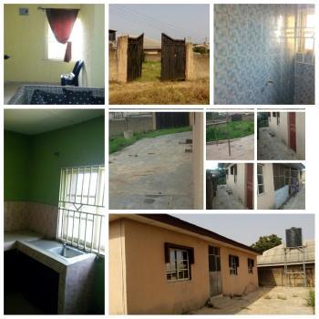 2 Bedroom & 1 Bedroom En Suite Apartment, with Land Space Fenced with Two Big Gates., Eleweeran, Abeokuta North, Ogun, Detached Bungalow for Sale