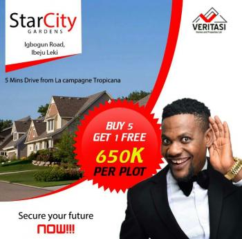 Star City Gardens,but 5 and Get One.plot for Free, Star City, After The Tropicana Resort, Akodo Ise, Ibeju Lekki, Lagos, Residential Land for Sale