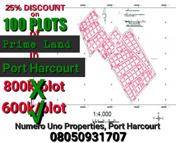 100 Plots of Dry, Table Land, Chokocho, Close to The Highway, Port Harcourt, Rivers, Mixed-use Land for Sale