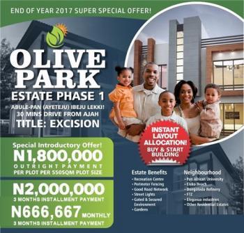 Olive Park Phase 1 Ayeteju Ibeju Lekki Lagos, Olive Park Estate, Phase 1 Abule Pan Aieteju Ibeju Lekki Lagos, Alatise, Ibeju Lekki, Lagos, Mixed-use Land for Sale