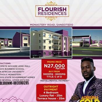 Residential Plots of Lands (300 Sqm & 600 Sqm), Along Monastery Road, Behind Shoprite, Sangotedo, Ajah, Lagos, Residential Land for Sale