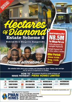 Hectares of Diamond Phase 2, Behind The New Shoprite in Sangotedo Lekki,( Buy One Plot and Get a 32 Led Tv), Off Monastery Road, By The New Shoprite, Sangotedo, Ajah, Lagos, Mixed-use Land for Sale