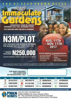 Immaculate Gardens, Onitsha, Anambra, Residential Land for Sale