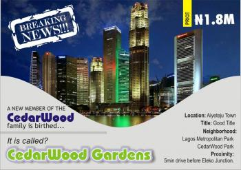 Breaking News: Cedarwood Gardens Has Been Unveiled. Be Your Own Landlord Today., 5 Min Before Eleko Junction, Eluju, Ibeju Lekki, Lagos, Residential Land for Sale