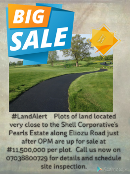 Plots of Land, Behind Shell Cooperative, Pearl Garden Estate, Eliozu, Obio-akpor, Rivers, Mixed-use Land for Sale