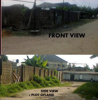 2 Plots of Land, Fenced, Olowonipopo Street, Lakowe Bus Stop, Eputu, Ibeju Lekki, Lagos, Residential Land for Sale