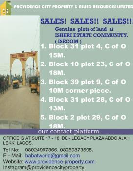 Plot of Land, Isheri Estates Community, Isheri North, Lagos, Land for Sale