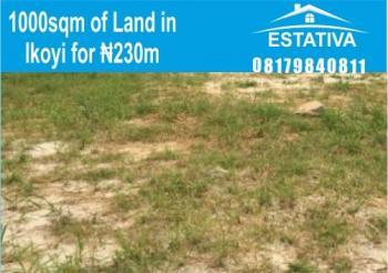 1000sqm Land in Ikoyi for N230m (lagos C of O), Ikoyi, Lagos, Residential Land for Sale
