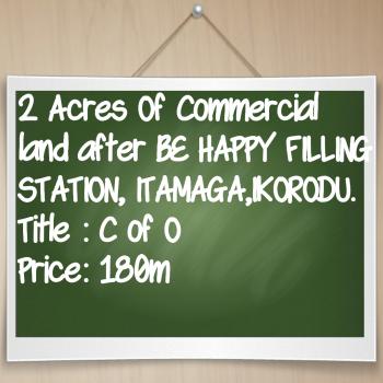 Commercial Land, Along Elepe -ijede Road, Ikorodu, Lagos, Commercial Land for Sale
