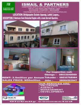 5 Bedroom Semi Detached Duplex with a Room Servant Quarters, Agungi, Lekki, Lagos, Detached Duplex for Rent