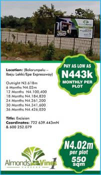 Almonds and Vines Gardens, Bolorunpelu Close to Lakowe, Lekki Expressway, Lekki, Lagos, Residential Land for Sale