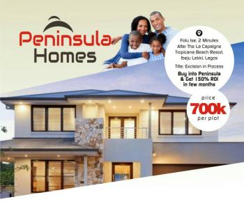 Peninsula Homes Phase 1, 2 Minutes From La Campagne Tropicana Resort, Akodo Ise, Ibeju Lekki, Lagos, Residential Land for Sale