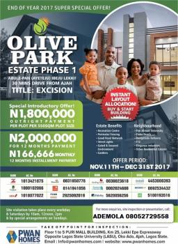 Buy a Plot with Excission and Get Free Free Xmas Turkey, Ayeteju Area, Awoyaya, Ibeju Lekki, Lagos, Mixed-use Land for Sale