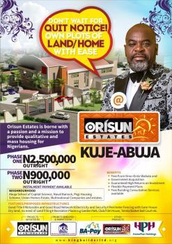 Plots, Orisun Estate, Gwagwalada, Abuja, Residential Land for Sale