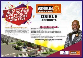 Orisun Estate Phase 2, Osiele Abeokuta, Abeokuta South, Ogun, Mixed-use Land for Sale