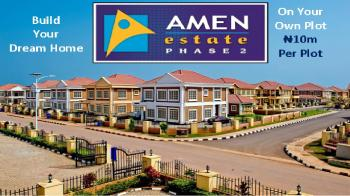 Serviced Plots, Amen Estate Phase 2, Eleko Beach Road, Eleko, Ibeju Lekki, Lagos, Mixed-use Land for Sale