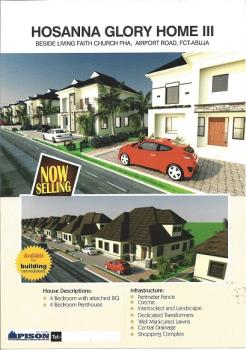 3 Bedroom Plus Penthouse Estate Plot of Land, Beside Living Faith Church, Lugbe, Airport Road, Lugbe District, Abuja, Residential Land for Sale