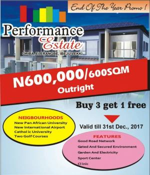Cheap Plots of Land, Performance Estate, Oriba, Eleranigbe, Ibeju Lekki, Lagos, Residential Land for Sale