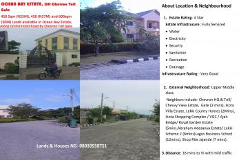 Land, Ocean Bay Estate, Along Orchid Hotel Road, Off Ckevron Toll Gate, Chevy View Estate, Lekki, Lagos, Residential Land for Sale