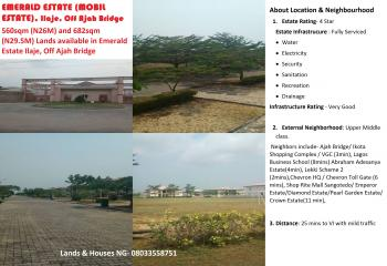 560sqm Land, Emerald Estate (mobile Estate), Ilaje, Off Ajah Bridge, Vgc, Lekki, Lagos, Residential Land for Sale