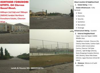 600sqm Land in Northern Foreshore Estate, Chevron Drive, Chevy View Estate for N77m, Northern Foreshore Estate, Chevron Drive, Chevy View Estate, Lekki, Lagos, Residential Land for Sale