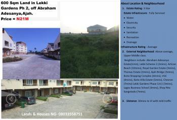 600sqm Land, Behind Lagos Business School, Phase 3, Lekki Gardens Estate, Ajah, Lagos, Residential Land for Sale