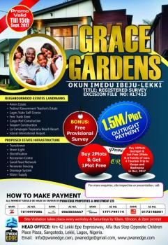 Dry Lands in Grace Gardens, Free Trade Zone Road, Orimedu, Ibeju Lekki, Lagos, Mixed-use Land for Sale