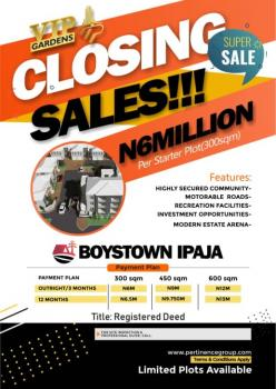 Own a Full Plot of Land  at  Ipaja Boys Town, Boys Town Ipaja.....n6m for Half Plot, Boys Town, Ipaja, Lagos, Residential Land for Sale