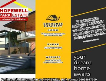 Land, Hopewell Park Estate, 7mint Drive From Dangote Refinery, Ibeju Lekki, Lagos, Residential Land for Sale