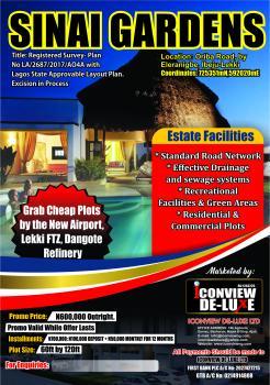 Cheapest Genuine Dry Plot, Sinai Gardens, Ibeju Lekki, Lagos, Residential Land for Sale