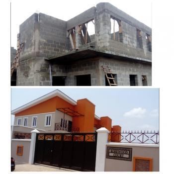 Ongoing Construction of 3 Units 3 Bedroom Terrace Houses(phase 2), Alhaji Agbabiaka Street, Okota, Isolo, Lagos, Terraced Duplex for Sale