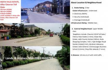 402sqm Land in Ikota. Villa Estate for 18.5m, Ikota Villa Estate, Lekki, Lagos, Residential Land for Sale