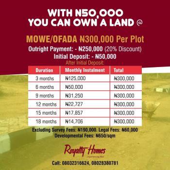 Plots of Land, Royalty Homes, Mowe Ofada, Ogun, Residential Land for Sale