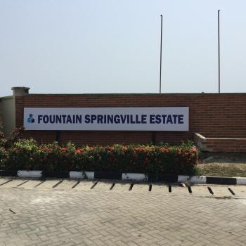 Plot of Land, Fountain Springville Estate, Monastery Road, Sangotedo, Ajah, Lagos, Residential Land for Sale