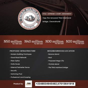 Third Mainland Courts, Oworonshoki, Kosofe, Lagos, Land for Sale