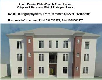 Off-plan 2 Bedrooms, 2 Bathrooms Spacious Apartment with 12 Months Installment Payment in Amen Estate 2, Lagos, Amen Estate 2, Eleko Beach Road, Off Lekki-epe Express Road, Eleko, Ibeju Lekki, Lagos, Block of Flats for Sale