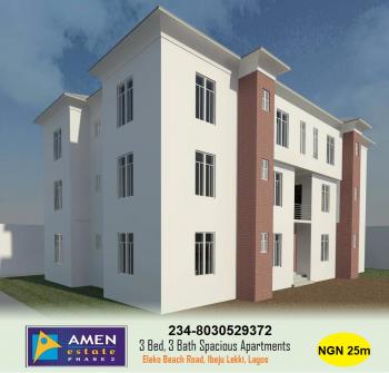 3 Bedrooms, 3 Bathrooms Spacious Apartment with 12 Months Installment Payment in Amen Estate 2, Amen Estate 2, Eleko Beach Road, Off Lekki-epe Express Road, Eleko, Ibeju Lekki, Lagos, Block of Flats for Sale