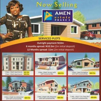 3 Bedroom Semi Detached Flat @ Amen Estate, Eleko Road. Lekki Epe Express Way, Eleko, Ibeju Lekki, Lagos, Flat for Sale