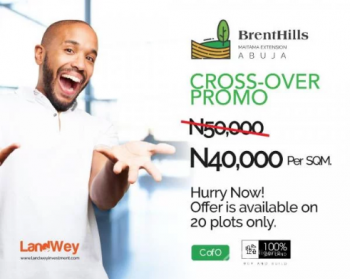 Brenthills Estate, Now Selling, Maitama District, Abuja, Residential Land for Sale