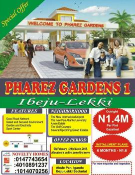Buy ,build and Move in, Pharez Gardens, Abule Panu Town, Ibeju Lekki, Lagos, Residential Land for Sale