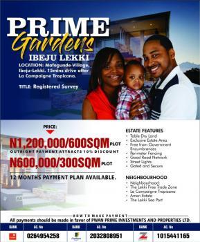 Prime Gardens Estate, 10 Min Dribe From Lacarpan Tropicana Resort, Iberekodo, Ibeju Lekki, Lagos, Residential Land for Sale