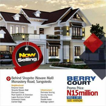 a Plot of Land, Berry Court Phase1, Off Monastry Road , Cmb Road, Behind Shopite Mall, Lekki Expressway, Lekki, Lagos, Residential Land for Sale