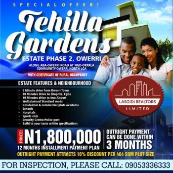 Tehilla Gardens Estate Phase 2, Along Aba Owerri Road, Ngor Okpala, Imo, Residential Land for Sale