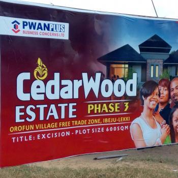 Cedarwood Villas Is Located in Gbarada S Village, Ayeteju, Ibeju-lekki Lt Is 2 Minutes Drive Off The Lekki-epe Express Way and Sit, Ibeju Lekki, Eleko, Ibeju Lekki, Lagos, Residential Land for Sale
