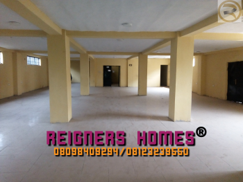 Very Large Hall/space  with 4 Toilets, Facing Beach Road, Ebute, Ikorodu, Lagos, Office Space for Rent