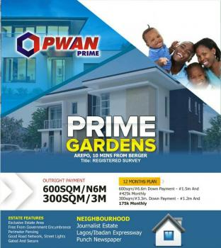 Registered Survey Land in Arepo Ogun State, Voera Estate Arepo Few Mins From Berger, Berger, Arepo, Ogun, Mixed-use Land for Sale