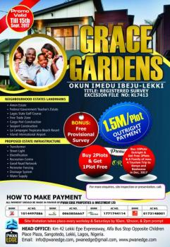 Buy 2 Plots Get 1 Plot Free - Grace Gardens, Okun Imedu Ibeju, Ibeju Lekki, Lagos, Residential Land for Sale