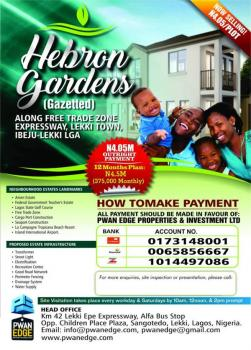 Gazette Dry Land Directly on Lagos Lekki Free Trade Zone Road - Buy and Build Land - Hebron Gardens, Orimedu, Ibeju Lekki, Lagos, Land for Sale