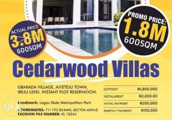 Cheapest Buy and Build Land, Cedarwood Villas, Ibeju Lekki, Lagos, Land for Sale