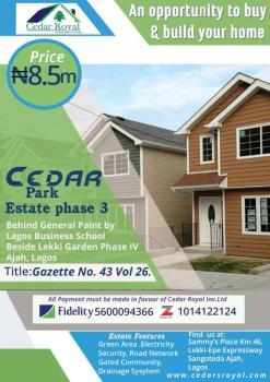 Cedar Park Estate, Behind Lagos Business School, Lekki Gardens Estate, Ajah, Lagos, Residential Land for Sale